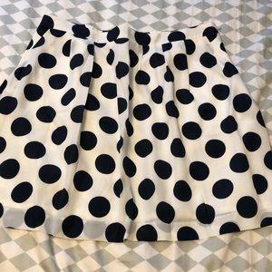 J. Crew Polka Dot Skirt size 14